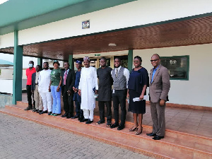 Members of the media meet officials of the Nigerian High Commission