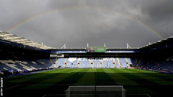 A rainbow appeared above the King Power Stadium before the first game since the helicopter tragedy