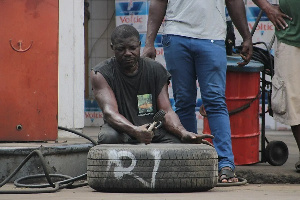 There is now a 100% increase in pumping a car tyre, this means it will cost a driver GH¢2 per tyre