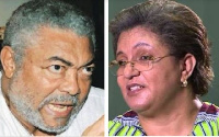 Former President Jerry John Rawlings and former Foreign Affairs Minister Hanna Tetteh