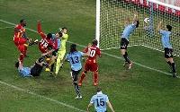 Luis Suarez's infamous on-the-line handball against Ghana