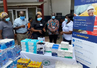 some KN95 face masks and other medical supplies were presented to the facility