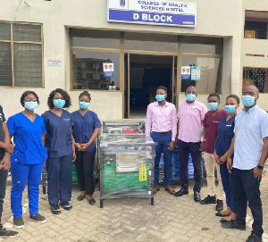 The handwashing machines were donated to the Universities by Ibrahim Mahama