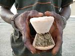 The marijuana and cocaine were hidden in earthenware