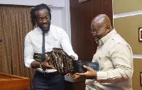 Kofi Kingston paid a courtesy call on President Akufo-Addo