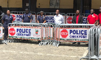 Ghana Police Service received 50 barricades from Heritage Christian College