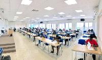 Some Ashesi students writing Exams
