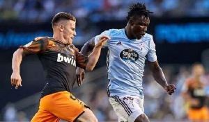 Aidoo made his La Liga debut against Valencia