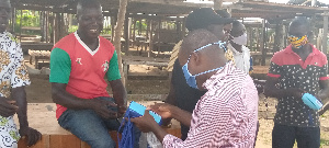 The distribution was led by the CEO of CODA, Lawyer Jerry Ahmed Shaib and the DCE, Kwasi Boonzoh