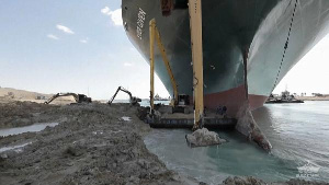 'Ever Given' ship stucked in Suez Canal before being freed
