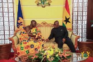 Otumfuo Osei Tutu II with President Nana Akufo-Addo