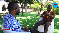 GhanaWeb Editor Kwabena Kyenkyenhene Boateng(L) with Sylvester Mensah(R)
