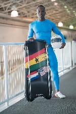 Akwasi Frimpong represented Ghana at the PyeongChang Winter Olympic Games