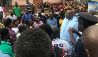 Henry Quartey interacting with some of the constituents