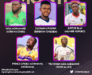 Five players made the shortlist
