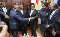 President Akufo-Addo greeting members of the Bar Council