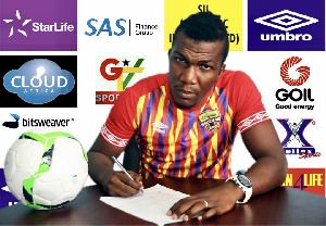 Hearts of Oak striker, Abednego Tetteh
