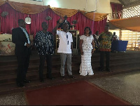 Emmanuel Korsi Bodja with others at the thanksgiving service