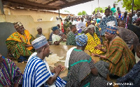 Vice President Bawumia in front of Garu Chief
