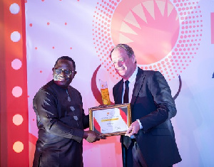 The award to the company was presented by Mr. Wisdom Ahiataku-Togobo