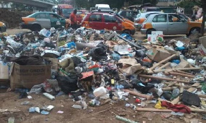 The situation poses a major health threat to the city, especially with the onset of the rains