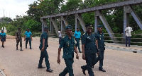 Volta Regional Commander of the GIS led some senior officers to tour some of the country's boarders