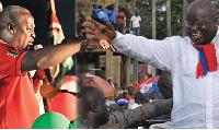 President John Mahama and Nana Akufo-Addo