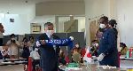 Mayor of Inawashiro, Mr. Hiroshi Zongo presented with a Ghanaian souvenir