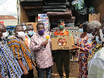Items donated included soaps, mosquitos' nets, blankets, roofing sheets, among others