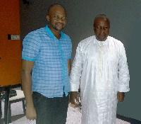 Yayaha Seidu in a pose with President Mahama