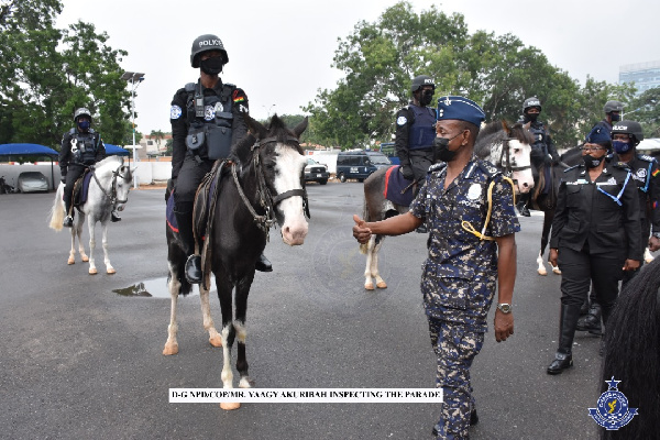 Acting IGP launches horse patrol operations. 55
