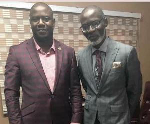 Farouk Aliu Mahama with Gabby Asare Otchere Darko