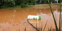 Sample of an empty chemical containers disposed in water bodies