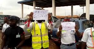 Kumasi Airport Picketing Staff