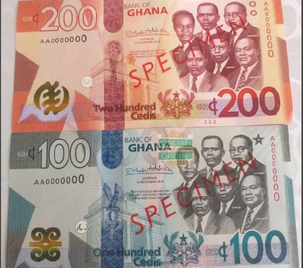 New Ghana Cedi notes
