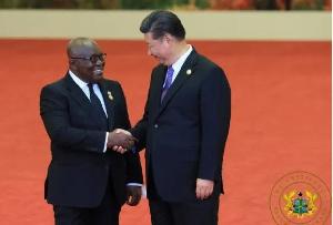 President Nana Addo Dankwa Akufo-Addo and Chinese President, Xi Jinping