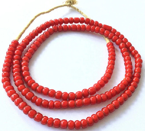The beads are used as an adornment for dead persons