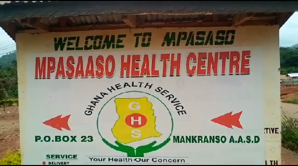 A signpost of the health center