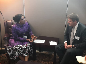 Shirley Ayorkor Botchwey (left) with Czech's Foreign Affairs Minister, Tomas Patrick
