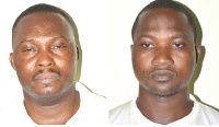 Corporal Gasty Hayaha Seidu (left) and his accomplice, Seth Kpornyo Dodzi