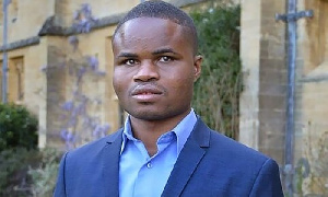 Ebenezer Azamati, 25, a postgraduate student from Ghana studying international relations