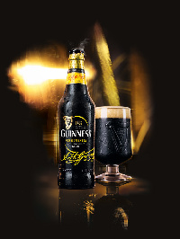 The bold, stylish bottle has been conceived with the help of the Guinness Cultural Council