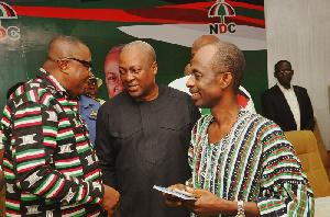 Ofosu-Ampofo (L), John Mahama (M) and Asiedu Nketia