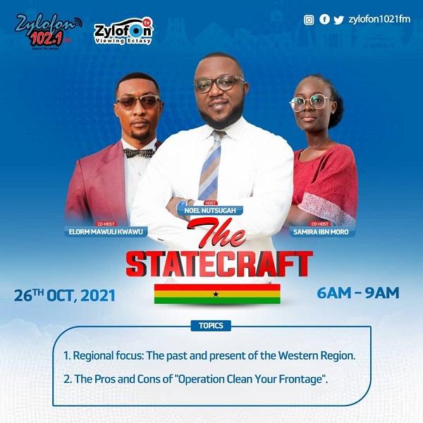 LIVESTREAMING: The Statecraft on Zylofon FM