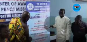 Prof. Dr. Ato Duncan and Osabarima Kwesi Atta II launching the fund