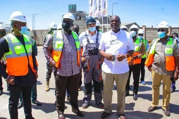 Alan Kyerematen visits Ibrahim Mahama's cement plant
