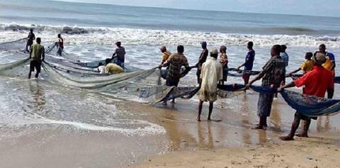 Local fishermen in a fishing community