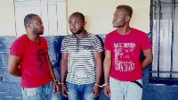 The suspects. From left — Attiti Best, Iduh Joel and Solomon Eseoghene