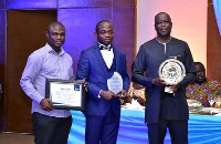 From right: Samuel Koranteng, Daniel Oppong-Nyinah and another official