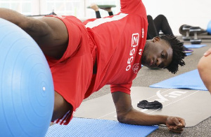 Kudus Mohammed during a gym session